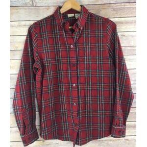 LL Bean Flannel Shirt Button Down 100% Cotton